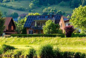 Zonnepanelen op een woning